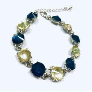 Gemstone Bracelet w/ Blue and yellow gems